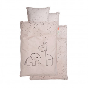 Done by Deer babysengetøj Dreamy dots - pudder - 70x100 cm.