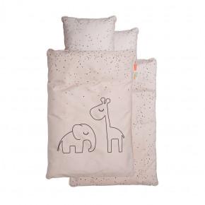 Done by Deer junior sengetøj - Dreamy dots - pudder - 100x140 cm.