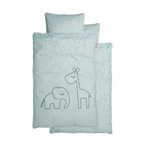 Done by Deer junior sengetøj Dreamy dots - blå - 100x140 cm.