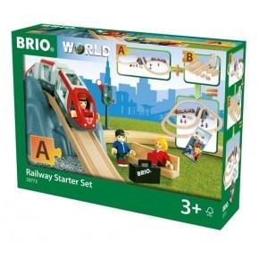 BRIO World - Togbane - Startsæt m. Tog og Tilbehør - 33773