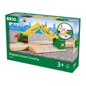 BRIO Magnetisk jernbaneoverskæring - 33750