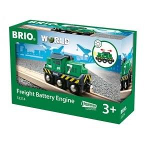 BRIO World - Fragtlokomotiv, batteridrevet - 33214