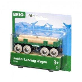 BRIO World - Togvogn med Tømmer - 33696