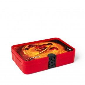 LEGO Ninjago Sorting box - Transparent Rød