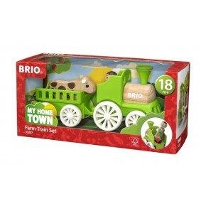 BRIO My Home Town - Lokomotiv m/vogn, figur, og ko - 30267