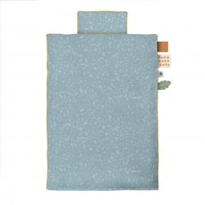 Sebra juniorsengetøj 100x140 cm wildlife - eucalyptus blue