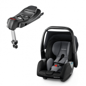 Recaro Privia Evo (Carbon) + Base til Privia RECAROfix