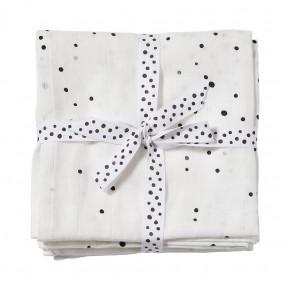 Done by Deer stofbleer 2-pack Dreamy dots - hvid