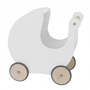Sebra Dukkevogn - Hvid