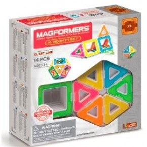 Magformers XL Neon 14 set konstruktion - Multi