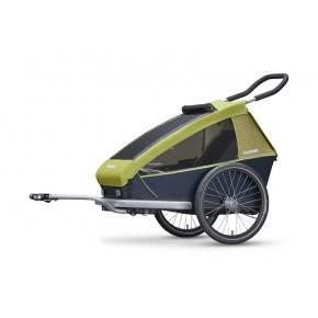 CROOZER Kid for 1 3-i-1 cykeltrailer 2019 - Lemon green