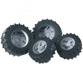 Bruder - Tvillingehjul til 03 serie m. grå fælge (1:16)
