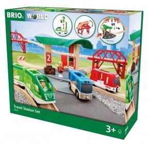 BRIO World - Togbane med Perron - 33627