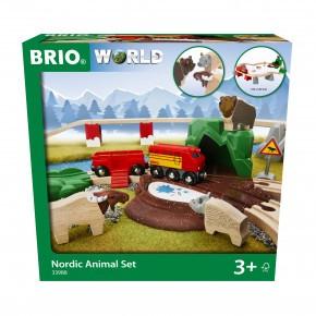 BRIO togbane med nordiske dyr - 33988