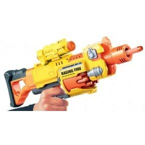 Air Blaster Soft bullet gun med 20 pile - Raging Fire