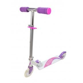 California løbehjul med LED hjul - lilla/pink