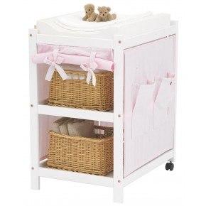 Hoppekids Fairytale Flower Tekstil puslebord - Lys rosa