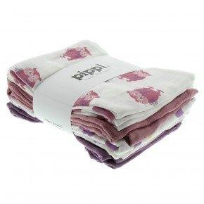 Pippi stofbleer 8-pak - lyserød
