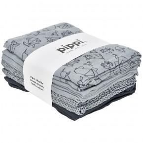 Pearl Blue Sotfbleer 8-Pak printet 70X70 - Pippi