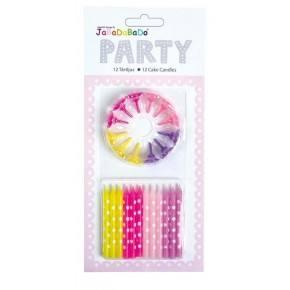 JaBaDaBaDo Fødselsdagslys - Pink