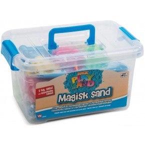 Artkids Magic Sand Kuffert 2 kg + værktøj og bakke