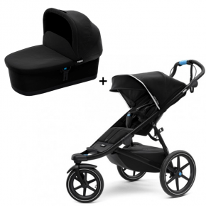 Thule Urban Glide 2 Klapvogn Black on Black + Bassinet Sort