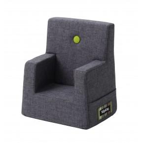 By KlipKlap Kids Chair - Blågrå m Grøn Knap DEMO