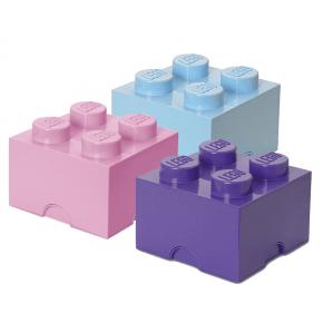 LEGO Opbevaringskasse 4 mix - Lilla