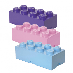Lego Brick 8 Opbevaringskasse mix - Lyseblå