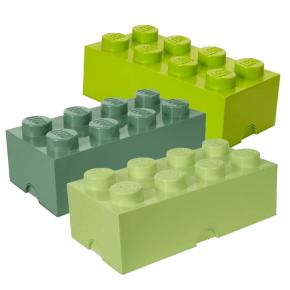 Lego Brick 8 Opbevaringskasse mix - Grøn