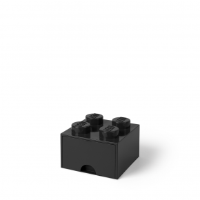 LEGO Brick 4 Opbevaringsskuffe - Sort