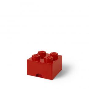 LEGO Brick 4 Opbevaringsskuffe - Rød