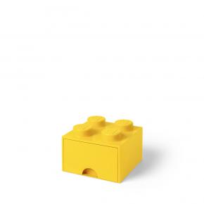 LEGO Brick 4 Opbevaringsskuffe - Gul