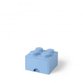 LEGO Brick 4 Opbevaringsskuffe - Lyseblå