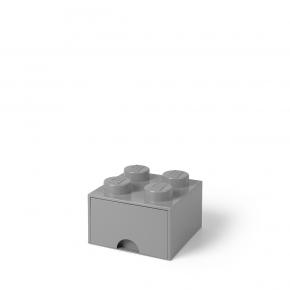 LEGO Brick 4 Opbevaringsskuffe - Grå