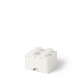 LEGO Brick 4 Opbevaringsskuffe - Hvid