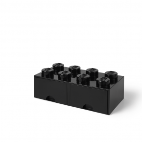 LEGO Brick 8 Opbevaringsskuffe - Sort
