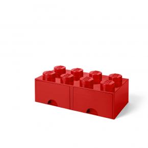 LEGO Brick 8 Opbevaringsskuffe - Rød