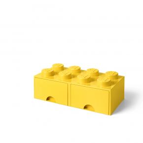 LEGO Brick 8 Opbevaringsskuffe - Gul