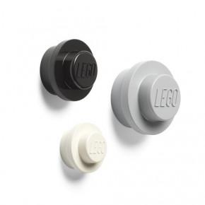 LEGO Knagesæt 3 STK - Sort, Grå, Hvid