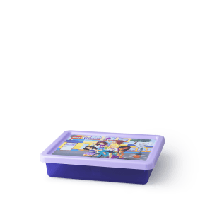 Lego Friends Opbevaringsboks - Transparent Lilla (S)