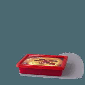 Lego Ninjago Opbevaringsboks - Transparent Rød (S)
