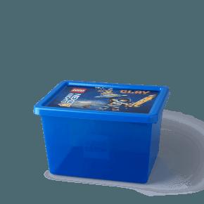 LEGO Nexo Knights Opbevaringsboks - Transparent Blå (L)