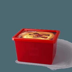 Lego Ninjago Opbevaringsboks - Transparent Rød (L)