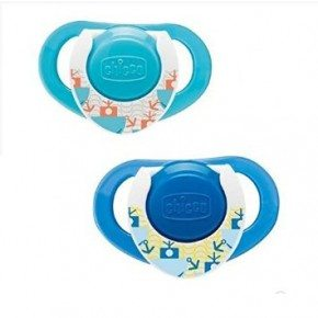 Chicco Physio Soother 12m+ Latex - Blå (2stk)