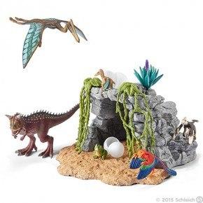 Schleich - Dinosaursæt m. hule