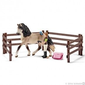Schleich - Hesteplejesæt m. andalusisk hest