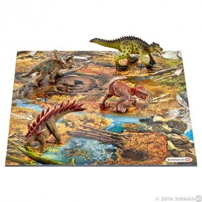 Schleich - Mini dinosaurer m. sumppuslespil