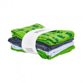 Grøn printet 8-pak Stofbleer - Pippi