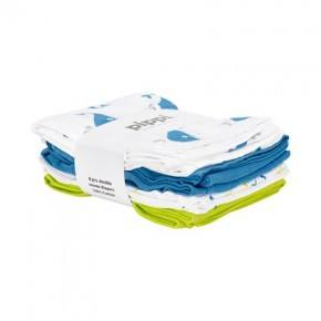 Parsian Blue printet 8-pak stofbleer - Pippi